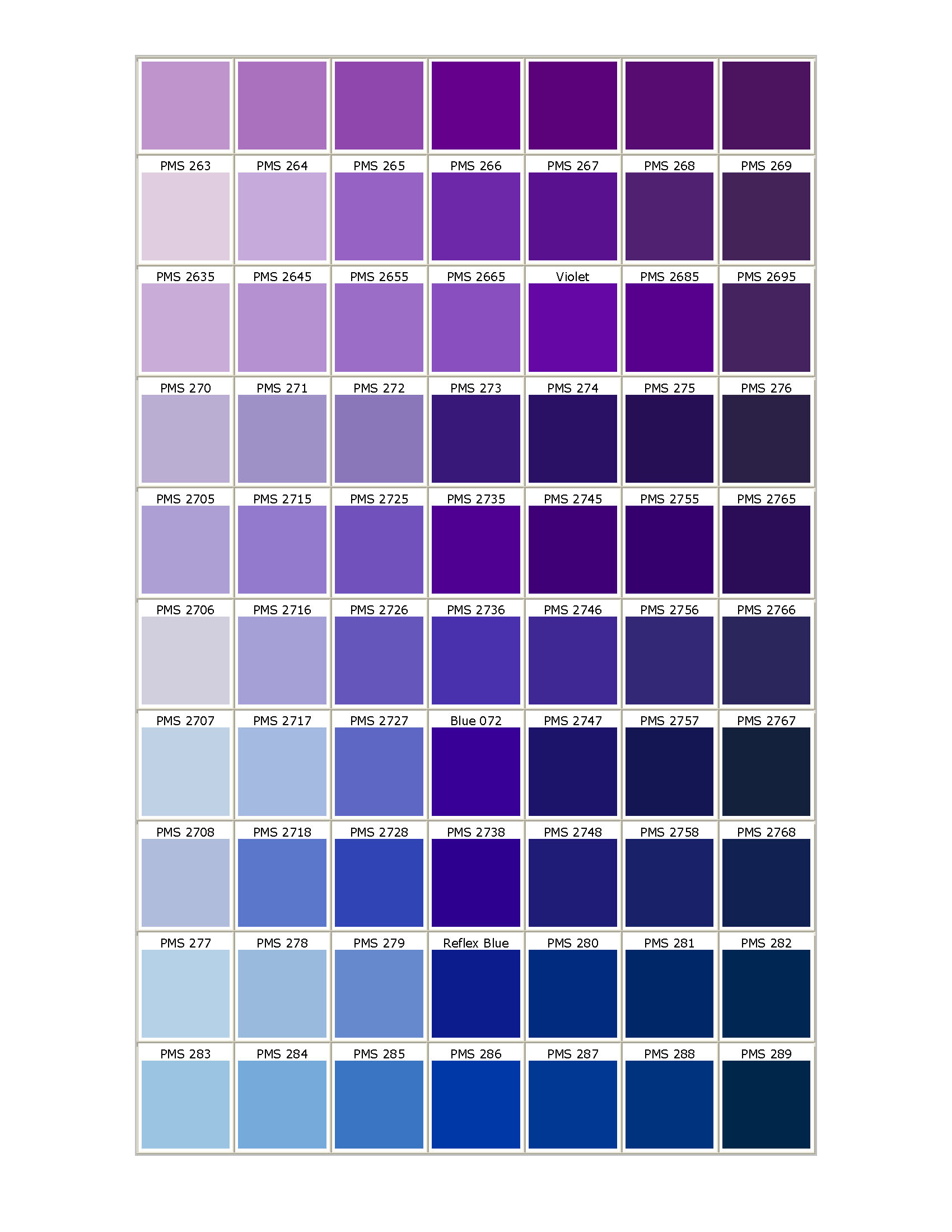 Pantone matching system for What color matches with purple