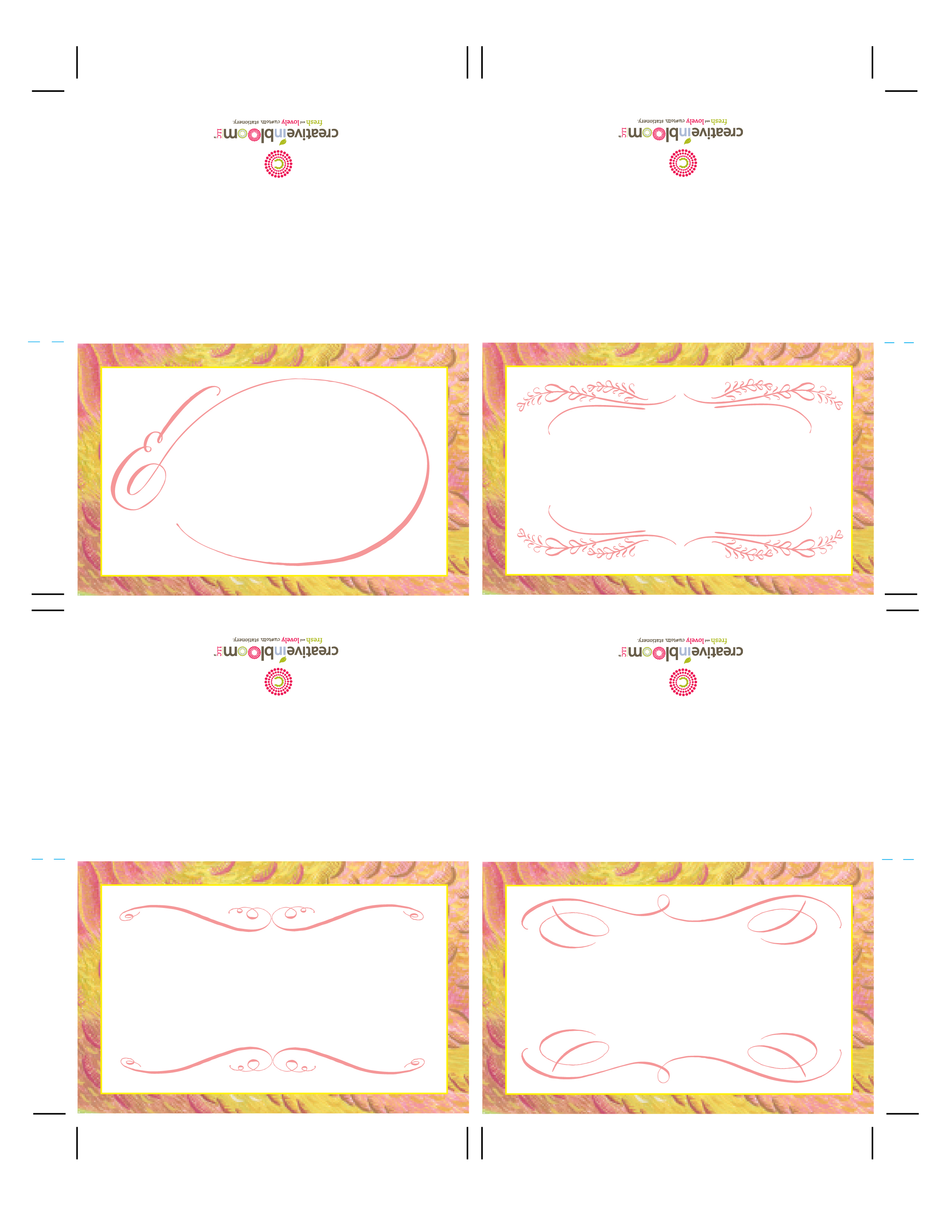 seat card template